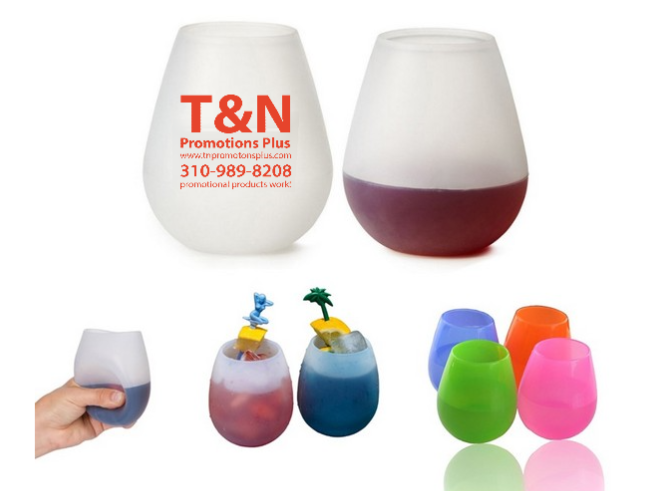 Custom Silicone unbreakable wine glasses